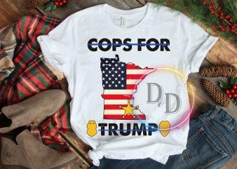 Minneapolis Cops For Trump T-Shirt Design