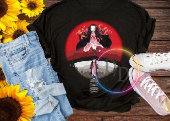 NEZUKO KAMADO demon slayer kimetsu Japan Style T shirt