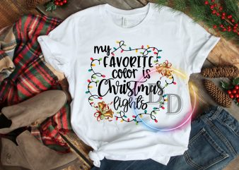 My favorite color is christmas lights T shirt