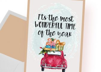 It's the most wonderful time of the year Christmas t shirt design for sale
