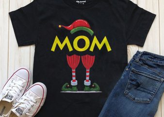 MOM ELF t-shirt design PNG download