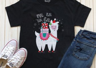 Lama Christmas t-shirt design screen printing design for download