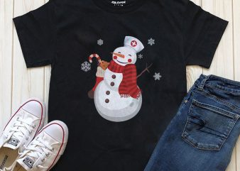 Snowman T-shirt design graphic PNG file for download