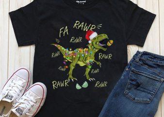 Dinosaur Merry Christmas Png PSD files t shirt vector illustration