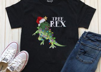 Tree Rex Graphic T-shirt Design PNG PSD editable
