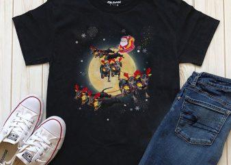 Santa Dogs t-shirt design for download