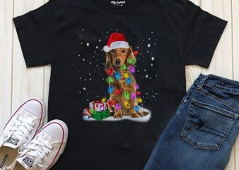 Dog Christmas T-shirt design PSD PNG for download