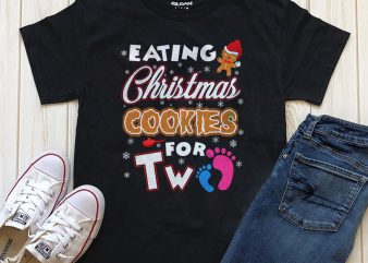Eating Christmas Cookies  graphic t-shirt artwork editable text in Photoshop