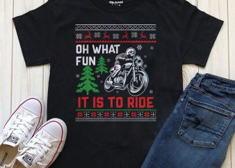 Ride Christmas t-shirt design for sale
