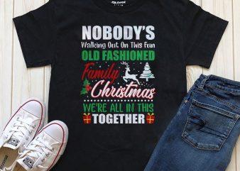 Family Christmas T-shirt PNG Psd editable text