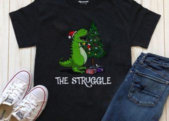The struggle Christmas t-shirt design PNG PSD editable text