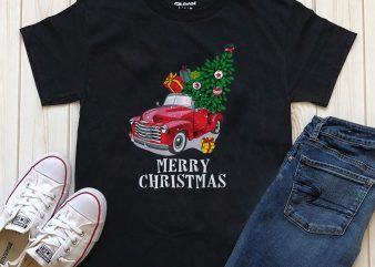 Merry Christmas T-shirt design for download PNG PSD files