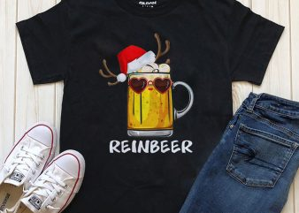 Reinbeer PNG t-shirt design for sale