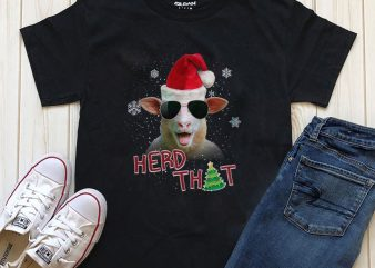 Christmas with the Herd Editable text design for download