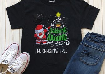 Dabbing Around, The christmas tree png t-shirt design template
