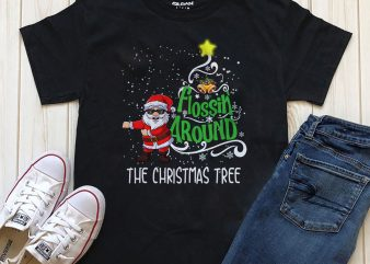 Flossing around, The Christmas Tree Png Psd T-shirt design