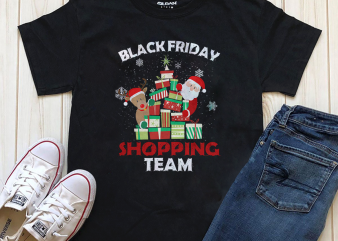 Black Friday Shopping Team, Christmas Png Digital T-shirt Design