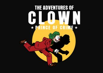 the adventure of clown prince of crime t shirt designs for sale