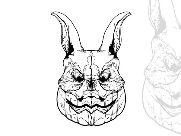 rabbit Halloween t-shirt design