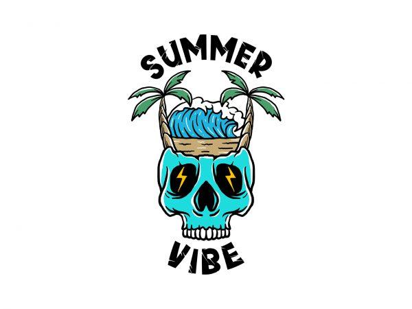 summer vibe 2 t-shirt design