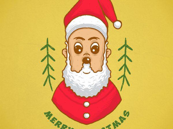 cute santa t shirt vector file