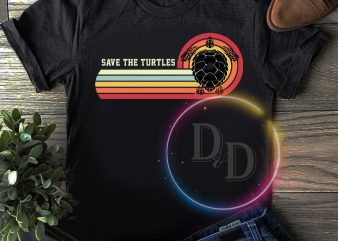 Save the Turtles Vintage Retro T shirt