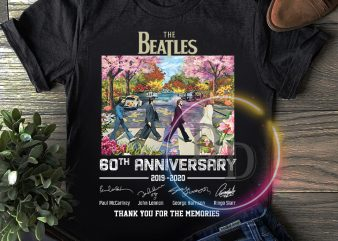The Beatles 60th Anniversary Thank you for the memories T shirt