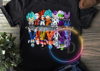 Dragon Ball Goku Chibi water mirror T shirt