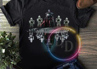 Star war water mirror T shirt design
