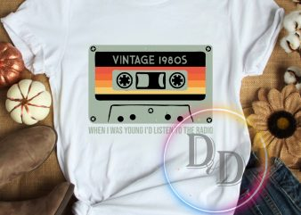 Vintage 1980s Birthday T shirt