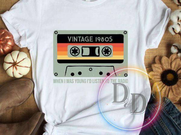 Vintage 1980s Birthday T shirt