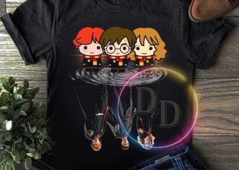 Harry Potters Hermione Ron Mirror Fan Givings T shirt