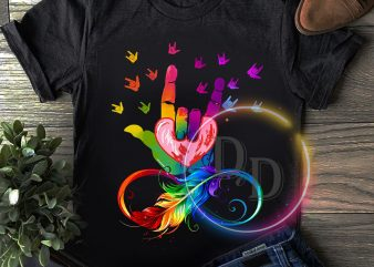 Peace Sign rainbown colorful T shirt design
