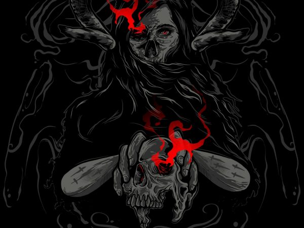 DEMON t shirt vector illustration