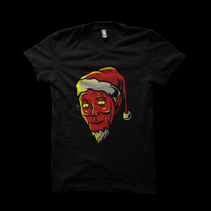 Evil Santa Claus tshirt design for sale