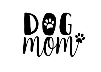 Dog Mom Dog T-Shirt Design