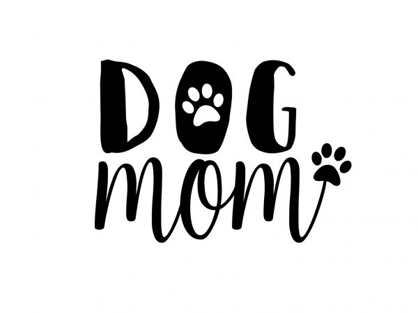 Dog Mom Dog T-Shirt Design