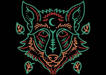 fox line art vector t-shirt design