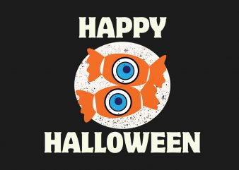Halloween Candy buy t shirt design for commercial use