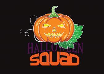Halloween Squad print ready shirt design