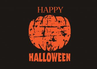 Happy Halloween print ready shirt design