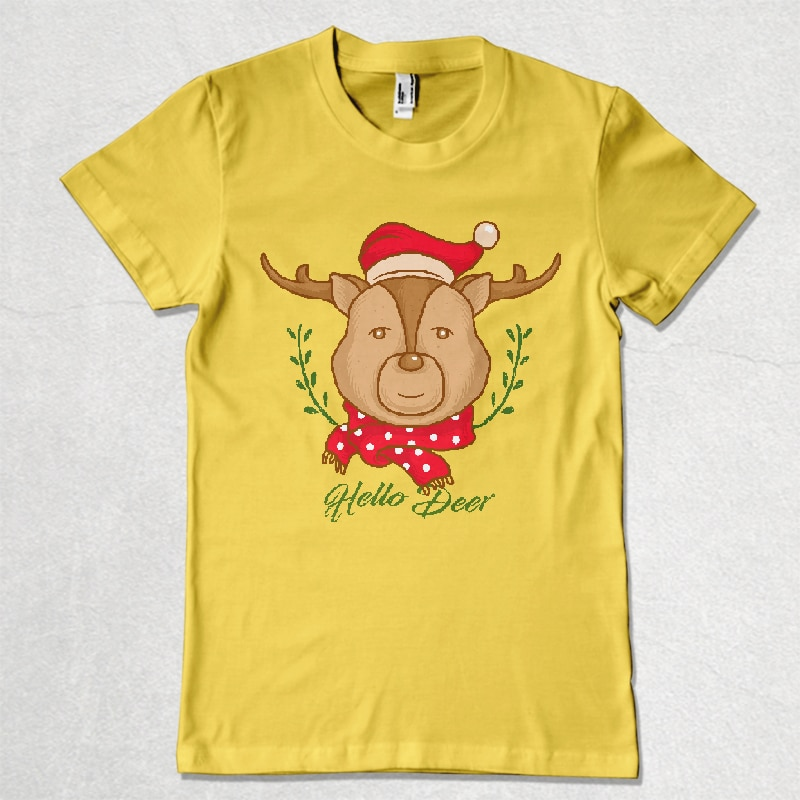 hello deer buy t shirt designs artwork