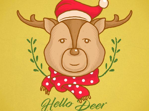 hello deer t-shirt design png