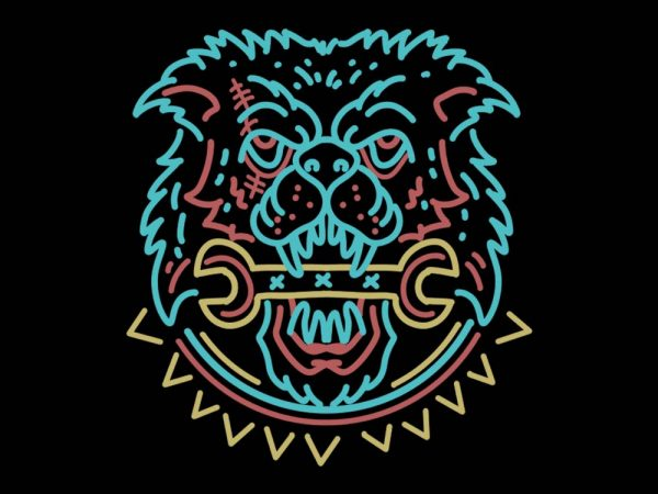 mad dog vector t-shirt design