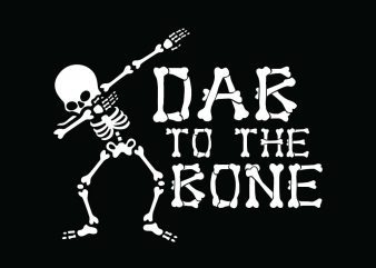 Dab to the bone Halloween T-shirt Design, Printables, Vector, Instant download