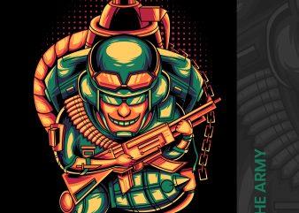 ARMY t shirt vector