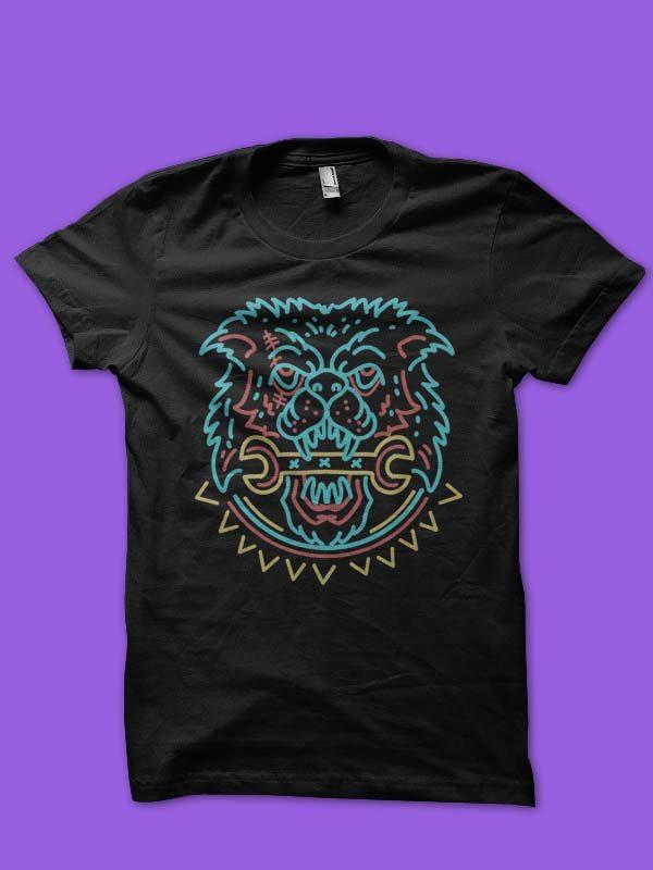 mad dog vector t-shirt design buy t shirt design