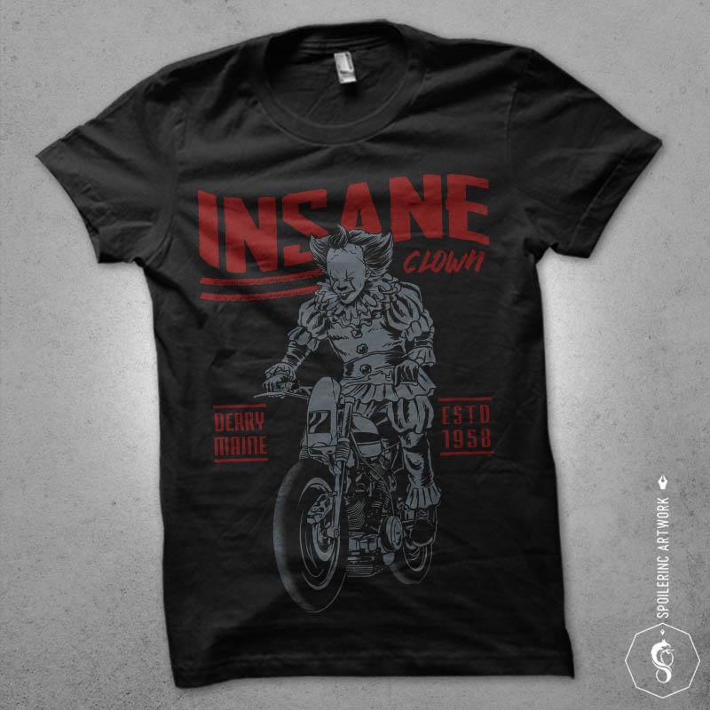 floating biker tshirt design vector shirt designs