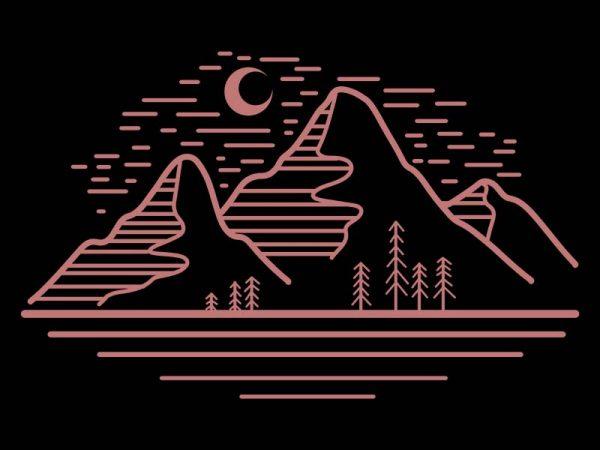 mountain landscape vector t-shirt design