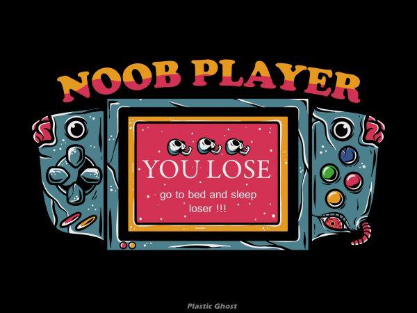 noob player T shirt vector artwork